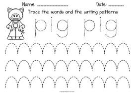 Writing Patterns Beauteous The Three Little Pigs Early Writing Patterns By Teacher's Time Turner