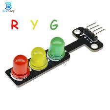 5mm <b>5V LED Mini Traffic</b> Lights Light Digital Signal Output Module ...
