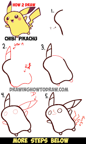 anime chibi pikachu drawing. Exellent Chibi Learn How To Draw Cute Baby Chibi Pikachu From Pokemon  Easy Steps Drawing  Lesson For Anime I