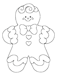Coloring Pages Gingerbread Girl Coloring Pages Dessert Page Home