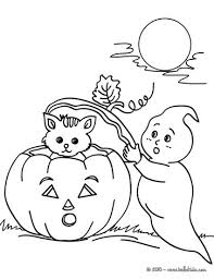 Ghosts And Pumpkin Coloring Pages