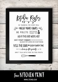 Kiss The Cook Kitchen Decor Free Kitchen Rules Printable So Cute Print And Stick In A