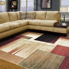 Living Room Using Geometric Area Rugs Lowes Plus Cozy Sofa And Table Lamp