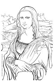 Mona Lisa Coloring Page Masterpieces Adult Coloring Pages