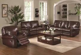 attractive leather sofa living room ideas brown furniture in