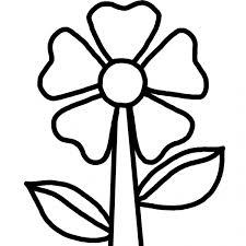 Disegno Di Fiorellino Da Colorare Per Bambini
