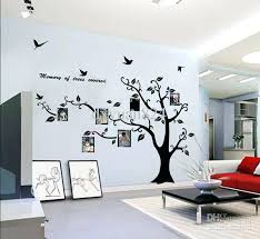 tree wall art large photo frame family stickers decoration with birds home removable vinyl decals kitchen ladybug from metal uk on wall art family tree uk with tree wall art large photo frame family stickers decoration with