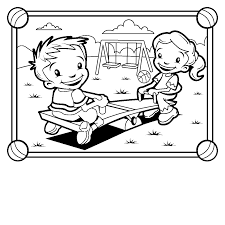 In The Park Coloring Page Clipart Panda Free Clipart Images