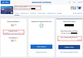 American Express Hilton Honors Business Credit Card Spend Trackers