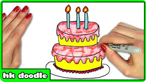 Draw A Birthday Cake How To Draw Birthday Cake Drawing Images Awful