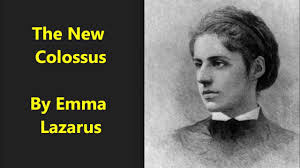 "「""The New Colossus"" by American poet Emma Lazarus,」の画像検索結果"