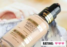 max factor miracle match foundation review