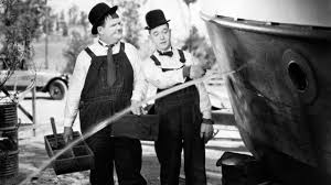 Afbeeldingsresultaat voor laurel and hardy in a fishing boat
