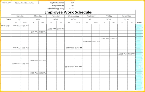 Monthly Schedule Excel Template Monthly Staffing Schedule Template Ceansin Me