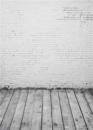 2018 Computer Painted White Brick Wall Photography Backdrop Vintage Gray  Wood Texture Flooring Kids Children Photo Background Studio Wallpaper From  ...