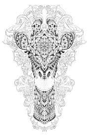 Giraffe Coloring Pages For Adults Printable 111 Giraffe Coloring