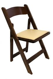 dark wooden folding chair front