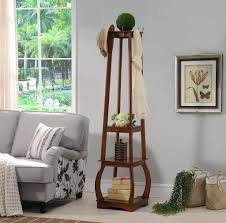 Coat Hat Rack Stand Wood 100 Hook Entryway Coat Hat Rack Stand With Storage Shelves 91