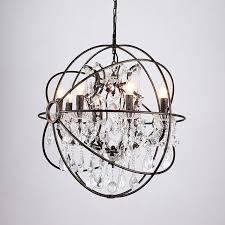 rustic crystal chandelier modern vintage orb crystal chandelier lighting rustic candle chandeliers led pendant hanging light