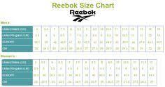 Reebok Shoe Size Chart For Kids 14 Best Shoe Size Chart Brands Images Shoe Size Chart