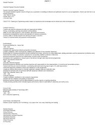 Sample Resume For Industrial Engineer Industrial Engineer Resume