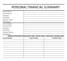 Simple Financial Report Template Monthly Statement Template Download ...