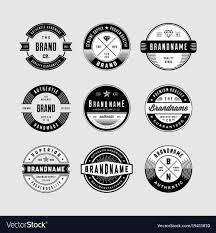 Vintage Logo Vector Vintage Logo Badges Royalty Free Vector Image Vectorstock