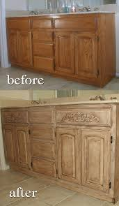 project transforming builder grade cabinets to old world ascp old white with dark walnut glaze