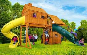 Swirly Slides Swing Sets Swings Wooden Playsets Jungle Gyms Eastern