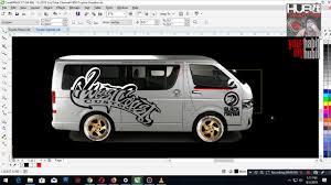 Toyota Hiace Sticker Design Concept Custom Design Sticker Cut Out Vinyl For Toyota
