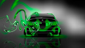 bmw m3 back plastic neon car