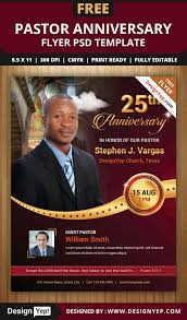 pastor anniversary flyer psd template on behance