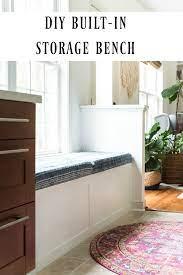 diy built in storage bench tutorial