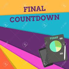 Handwriting Text Final Countdown Conceptual Photo Last Moment