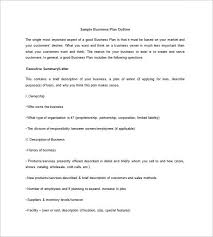 Basic Business Plan Outline Free Business Plan Outline Template 9 Free Word Excel Pdf