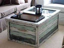 coffee table trunks shabby chic coffee table trunks with reclaimed wood and glass window top coffee table trunks canada