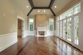 Wood trim and beams add a vaulted ceiling feel to any room.