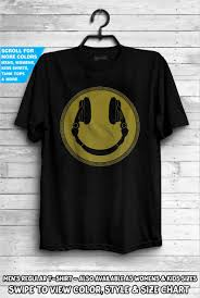 Dj Smiley Headphones T Shirt Disc Jockey Deejay Turntable Deck Music Dubstep House Vinyl Gift Idea Dad Djs Dancing Club Wear Tee Emoji