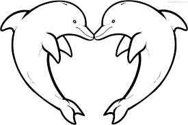 Small Picture Dolphins Coloring Pages Within Dolphin Coloring Page itgodme