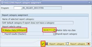 Assign Report Category To Hr Abap Report | Sap Blogs