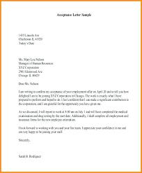 Acceptance Letter For Offer Job Offer Acceptance Letter Template Sample Free