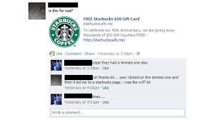 Tim Card 50 25 Scam Facebook Starbucks Free Zdnet Hortons Gift