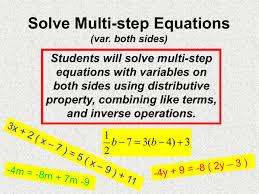 solve multi step equations var both