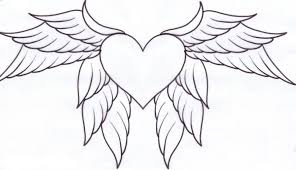 Hearts With Wings Coloring Pages Az Coloring Pages Heart With Wings
