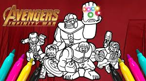 Avengers Thanos Coloring Page Lego Superheroes Series Youtube