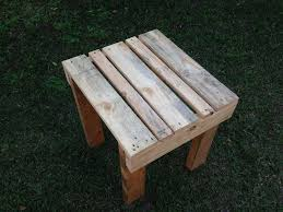 pallet furniture table. Regained Pallet Small Side Table Furniture