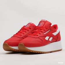 reebok classic leather double primal red white cobalt dv3632 queens