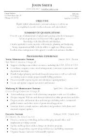Objective Statement In Resume Executive Assistant Career Objective Example Resume Summary Examples