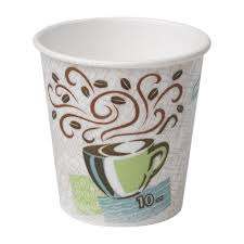 office coffee cups. Georgia-Pacific Dixie PerfecTouch 92959 Insulated Paper Hot Cup, 10oz (Case Of 20 Sleeves, 50 Cups Per Sleeve) Office Coffee
