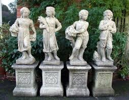 set of 4 traditional seasons stone